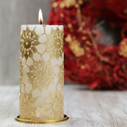 Christmas Candles.Lace Cylinder
